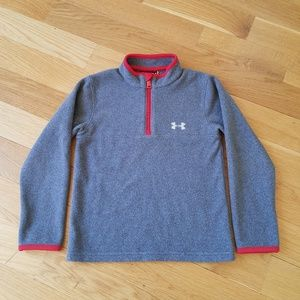 Under Armour Boys Solid Logo 1/4 Zip in GUC